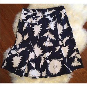 Isaac Mizrahi for Target Blue Women Cotton Skirt